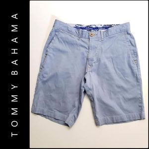 Tommy Bahama Men Flat Front Chambray Short Size 30